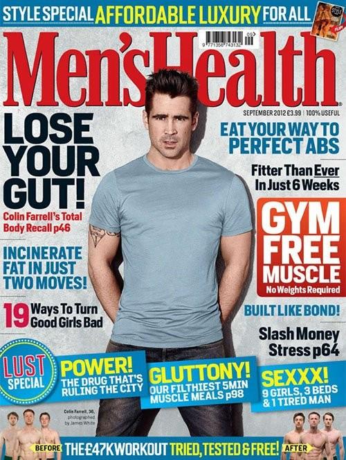 Колин Фаррелл для журнала Men's Health