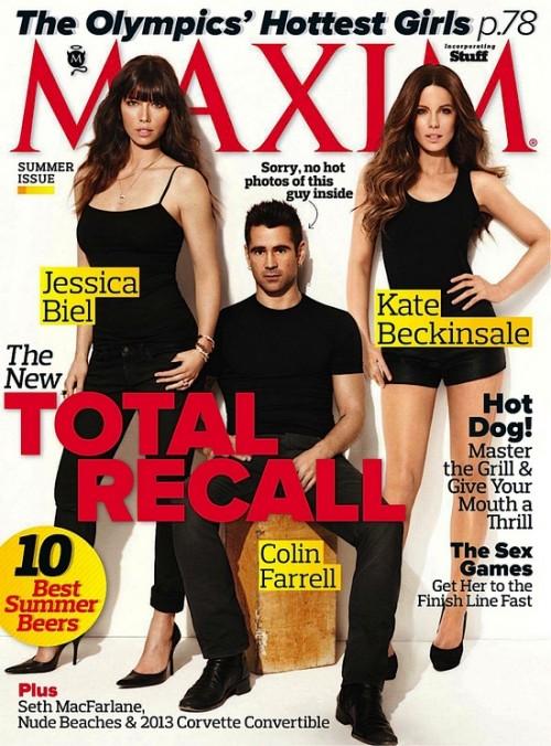 Колин Фарреелл с Джессикой Бил и Кейт Бекинсейл для Maxim