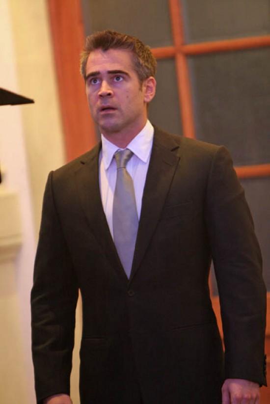 Колин Фаррелл на съемках Телохранителя
