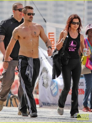 Колин Фаррелл вместе с Клодин в Рио