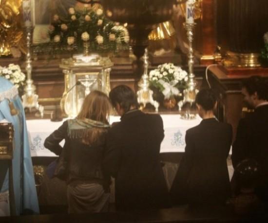 Колин Фаррелл на крестинах сына